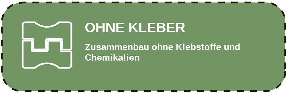 Ohne Kleber